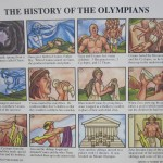 This poster inspired the students to perform a play about the Olympians.